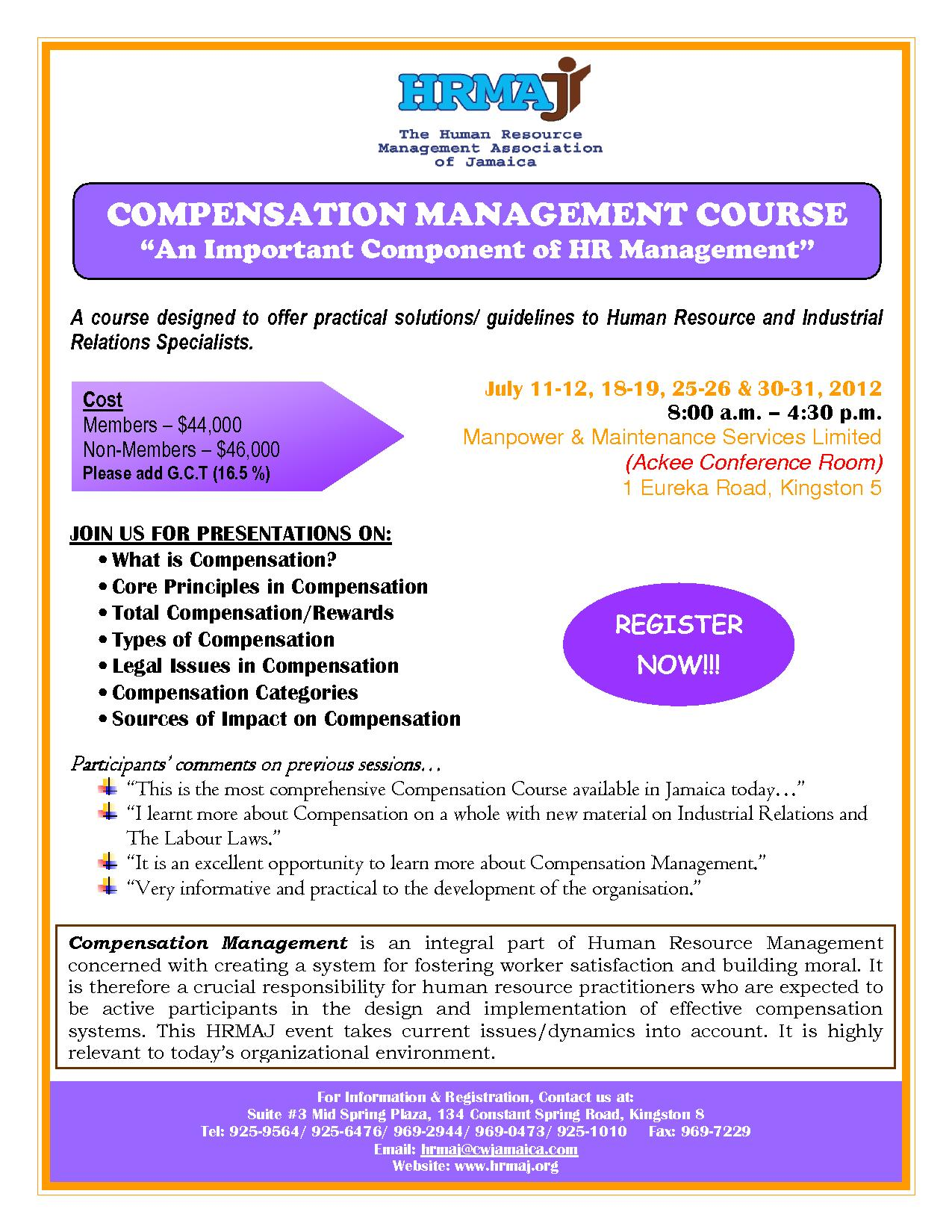 Compensation Management Course 2012