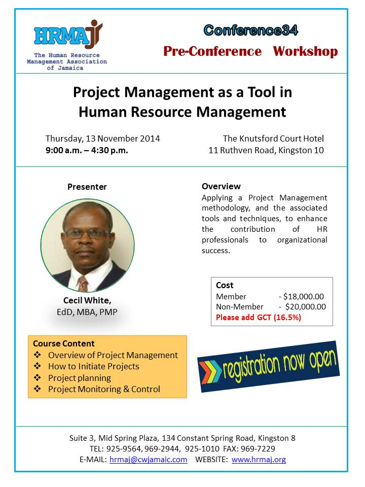 Pre-Conference Workshop - Project Management as a Tool in HRM