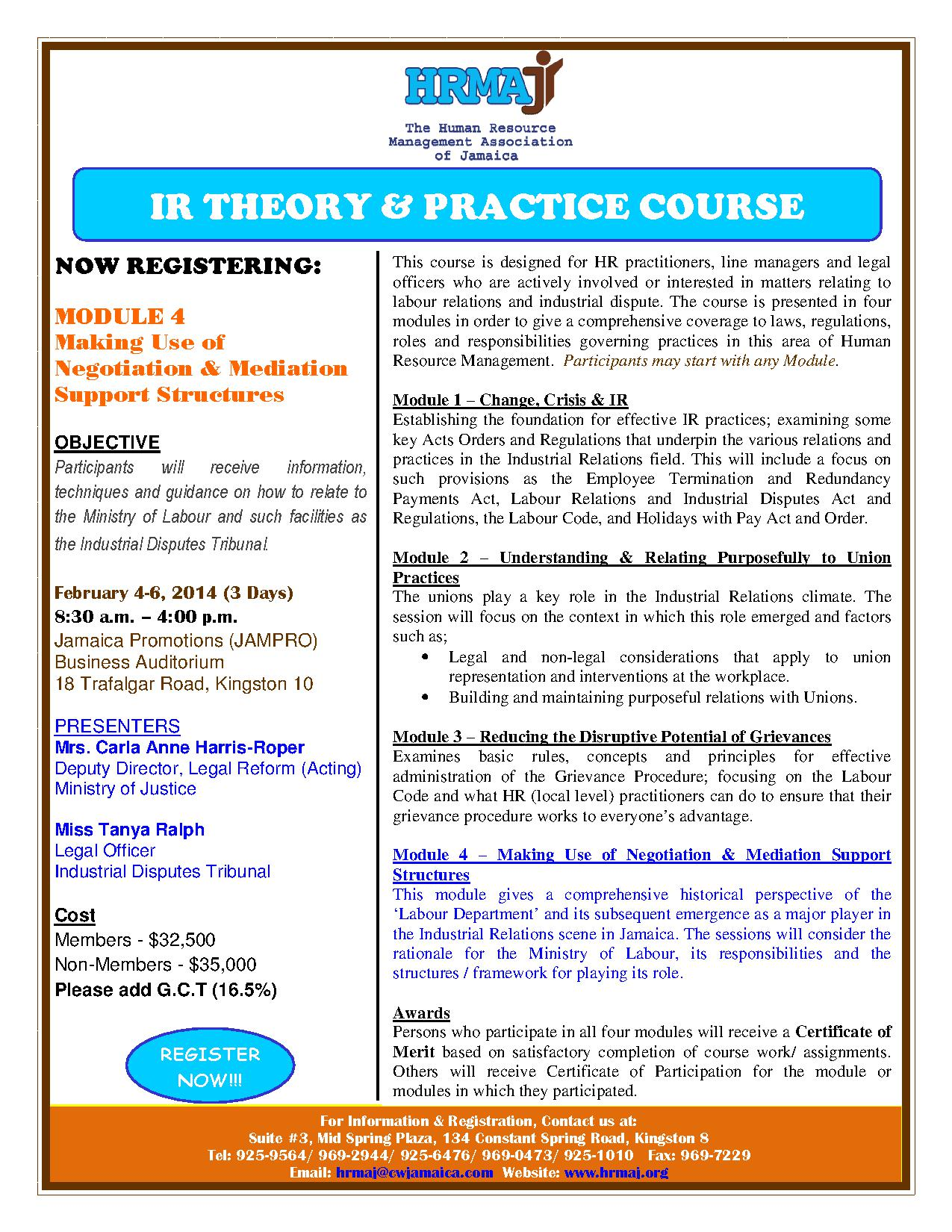 IR Theory Practice Course Flyer (Module 4)