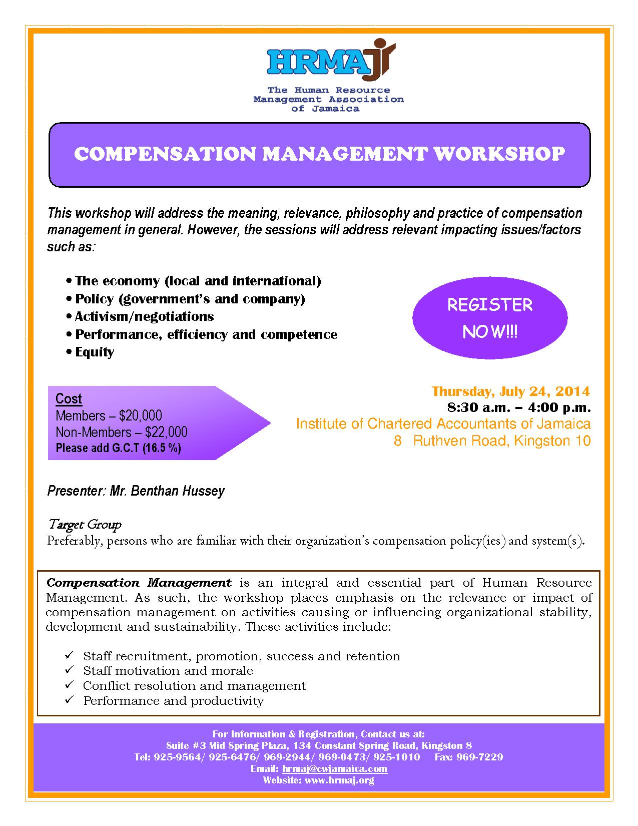 Compensation Management Workshop
