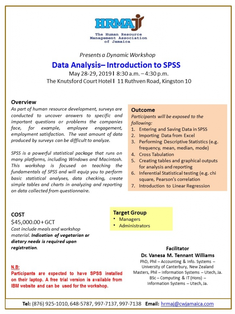 Data Analysis - Introduction to SPSS